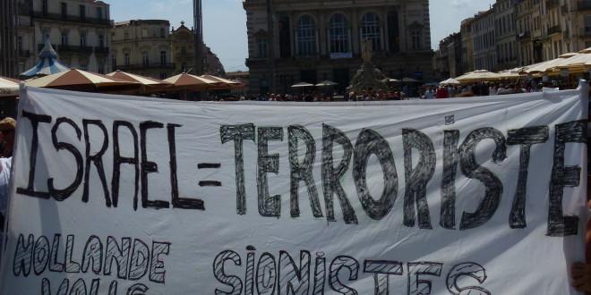Manifestation pro-palestinienne à Montpellier