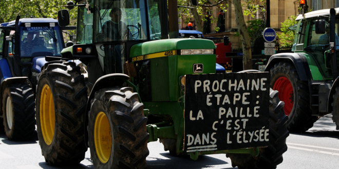 Manifestation des agriculteurs en Languedoc-Roussillon
