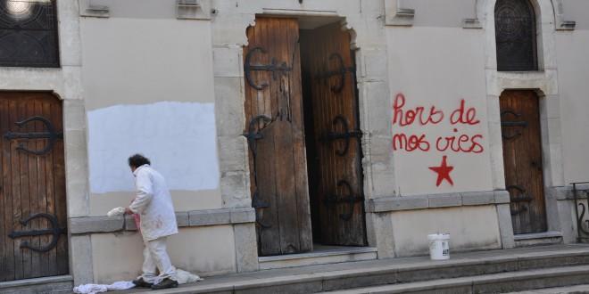 Vandalisme anti-chrétien à Sumène