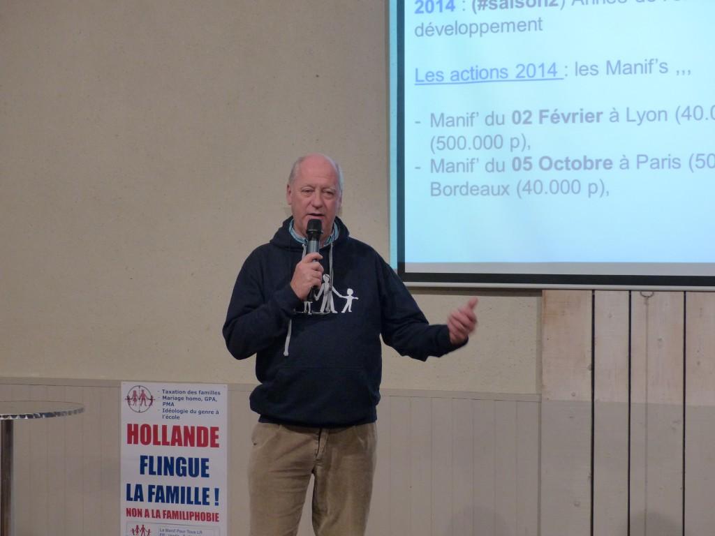 Jean-Luc d'Auzac, responsable de La Manif Pour Tous Languedoc-Roussillon