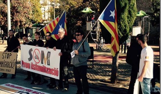 Union des identitaires et indépendantistes contre l'immigration en Catalogne