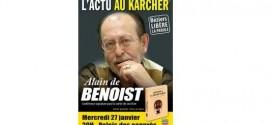 Alain de Benoist en conférence à Béziers le 27 janvier