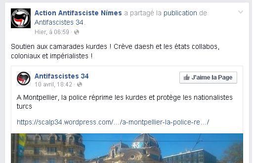 Kurdes gauche Montpellier