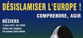 Béziers. Un colloque pour « désislamiser l'Europe », le 4 mars 2017