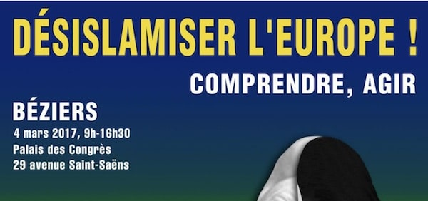 Désislamiser l'Europe, colloque le 4 mars à Béziers. Interview d'Alain Wagner