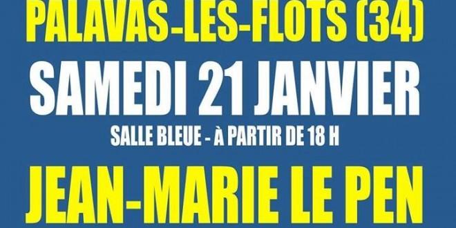 Législatives. Jean-Marie Le Pen en meeting à Palavas le 21 janvier