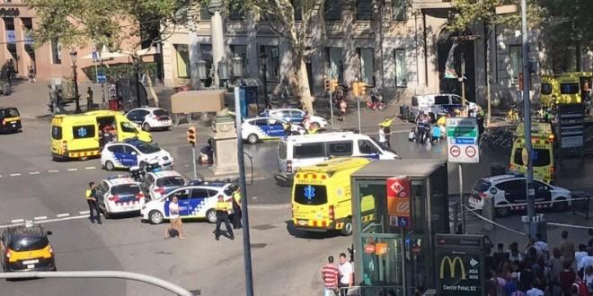 Attaque terroriste à Barcelone, au moins deux morts et plusieurs blessés
