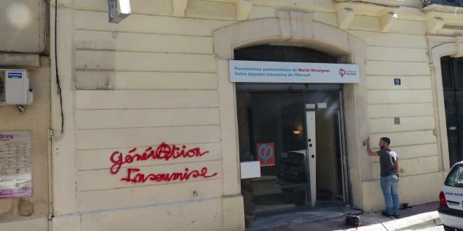 Permanences vandalisées, la malédiction des députés de Montpellier n'épargne pas Ressiguier